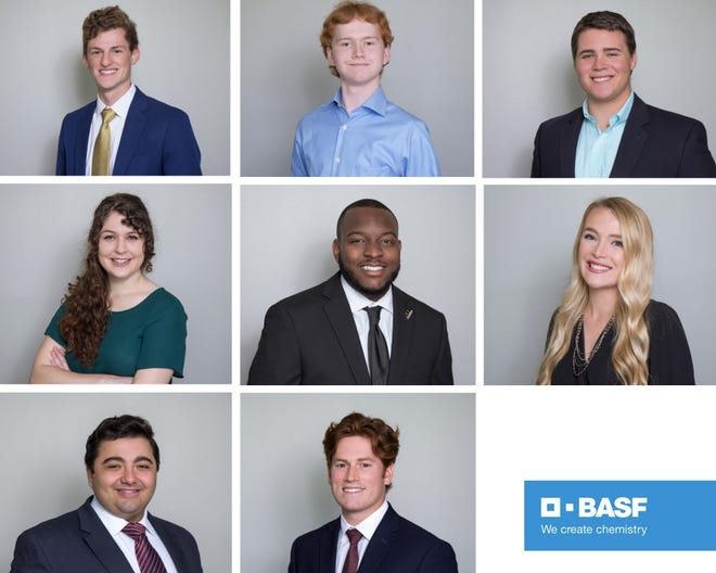 Eight engineering students from universities across Louisiana recently completed a summer internship program at BASF's site in Geismar.