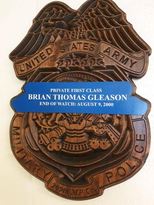 The 519th Military Police Battalion Recently honored the life of PFC Brian Thomas Gleason on the 20th anniversary of his tragic passing.