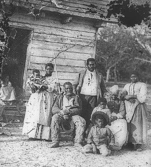 Five generations of slaves in 1862 on the James Joyner Smith plantation near Beaufort, S.C. Hundreds of slaves were interviewed and photographed In the 1930s for the Works Progress Administration project to document the stories of former slaves. [Courtesy The Library of Congress]