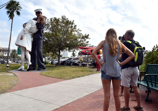 "The Bayfront is a popular site for tourists visiting ""Unconditional Surrender."" [HERALD-TRIBUNE ARCHIVE / 2019]"