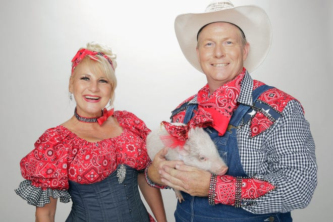 """Myakka City married couple Les Kimes and Nina Meluzzi and their animal act Pork Chop Revue have advanced to """"America's Got Talent"""" live shows, which start Tuesday.  [PHOTO PROVIDED BY CHRIS HASTON / NBC]"""