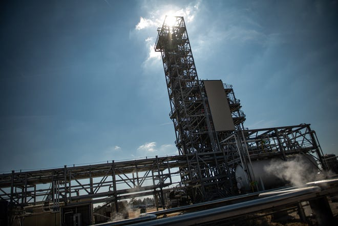 A thermal oxidizer at the Chemours plant near Fayetteville is one of many steps the company says it has taken to reduce PFAS emissions. The state has filed a lawsuit against the company saying it polluted natural resources.