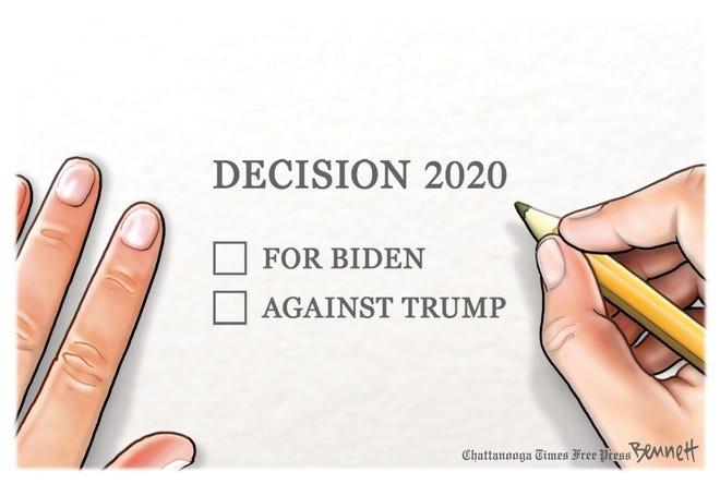 Voting for Biden or against Trump