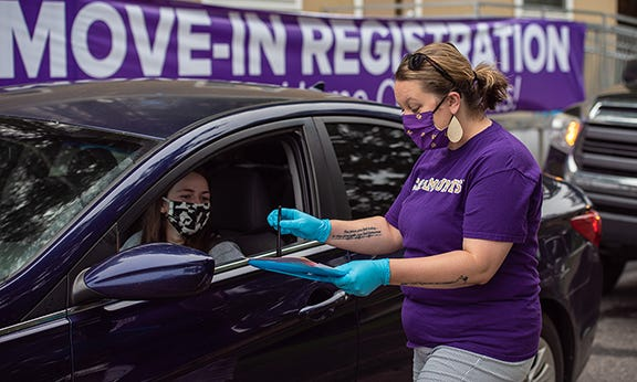 Students move-in to Western Carolina University for the fall 2020 semester.