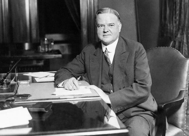 Republican presidential candidate Herbert Hoover is pictured at his desk in his Washington headquarters, 1928. Hoover became one of three incumbent presidents to lose reelection in the last 100 years. (AP Photo)