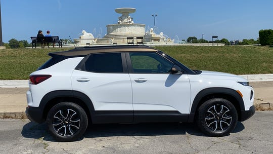 2021 Chevrolet Trailblazer Activ on Belle Isle park in Detroit.