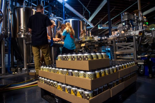 Hub City Brewery will take their local beverage and beginning the canning process and begin direct distribution across West Tennessee from Jackson, Tenn., Friday, Aug. 7, 2020.