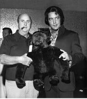 Col. Tom Parker and Elvis Presley, circa 1973.
