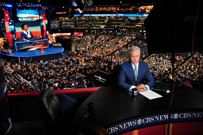 CBS' Scott Pelley anchors the network's coverage of the 2012 Democratic National Convention in Charlotte, North Carolina. You may not see any national television coverage anchored in Milwaukee during the 2020 DNC.