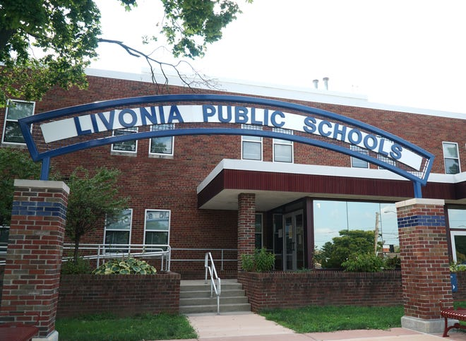 The Livonia Public Schools administration building on Farmington Road.