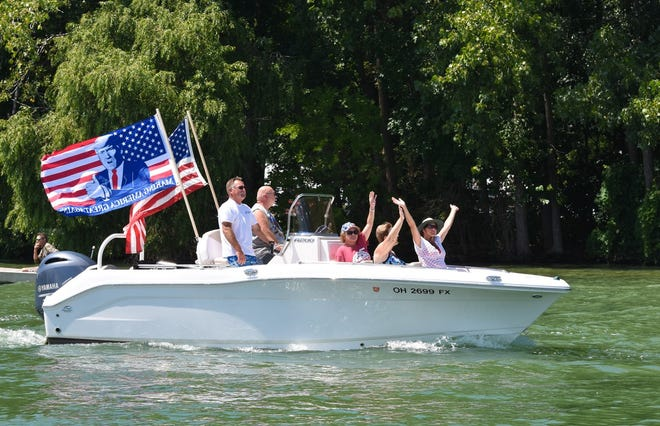 Thousands of people in hundreds of boats participated in Saturday's Ottawa County Trump Flotilla.