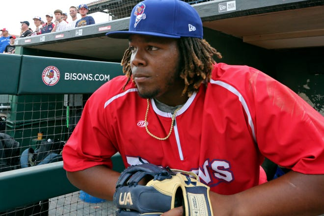 Vladimir Guerrero Jr., who played for the Triple-A Buffalo Bisons, returns to Buffalo Tuesday when the Toronto Blue Jays host the Miami Marlins at their home ballpark for 2020, Sahlen Field.