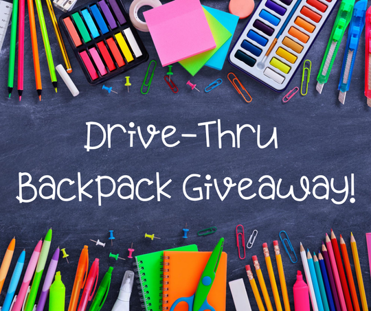A backpack giveaway, sponsored by Healthy Blue SC