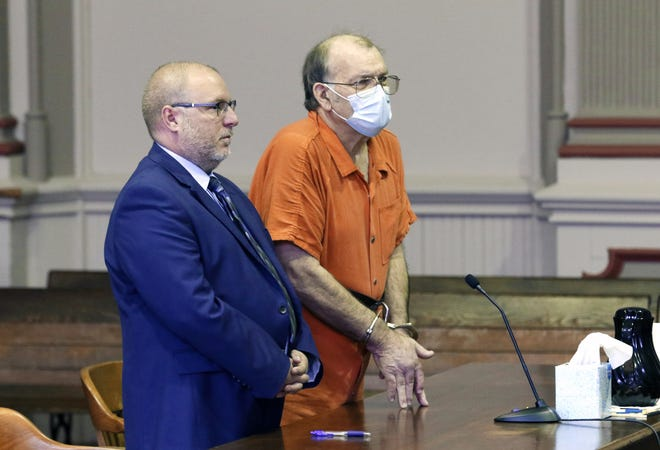 Dwight Taylor, right, with his attorney, Keith Edwards, enter a plea in court. In August, 66-year-old Taylor was sentenced to 15 years in prison, marking the end of his reign as a local cartel kingpin, as law enforcement officials said at the time of his arrest.