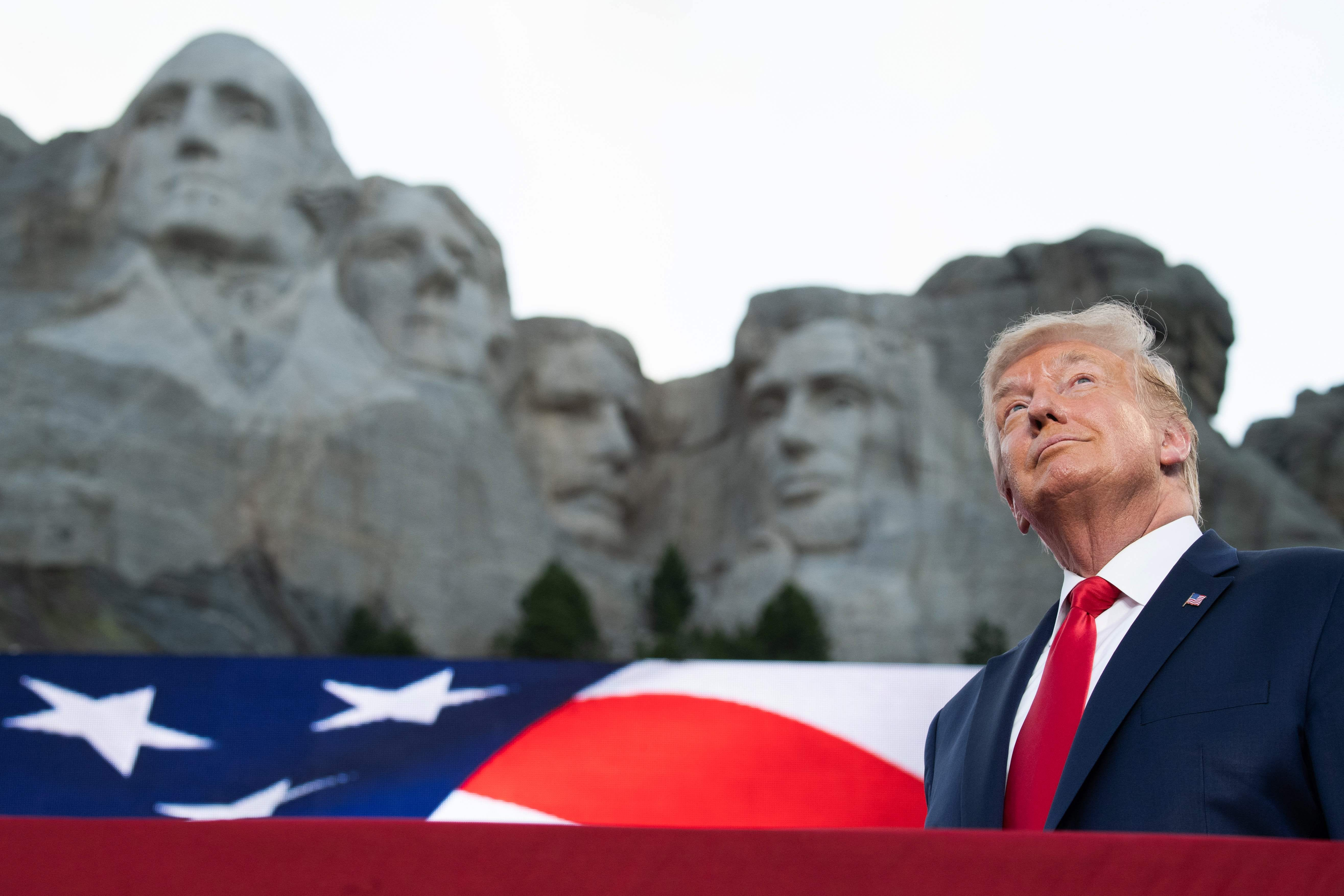 Trump says adding his face to Mount Rushmore would be a  good idea.  It would likely be impossible
