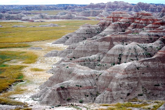 Not only is the geology and scenery dramatic at South Dakota's Badlands National Park, but so is its fossil history. The area includes the remains of an ancient river system.