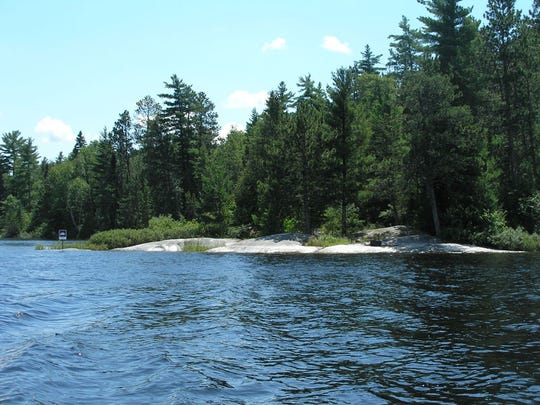 Minnesota's Voyageurs National Park covers an area where a chain of volcanoes erupted two to three billion years ago, and is now laced with lakes and forest.