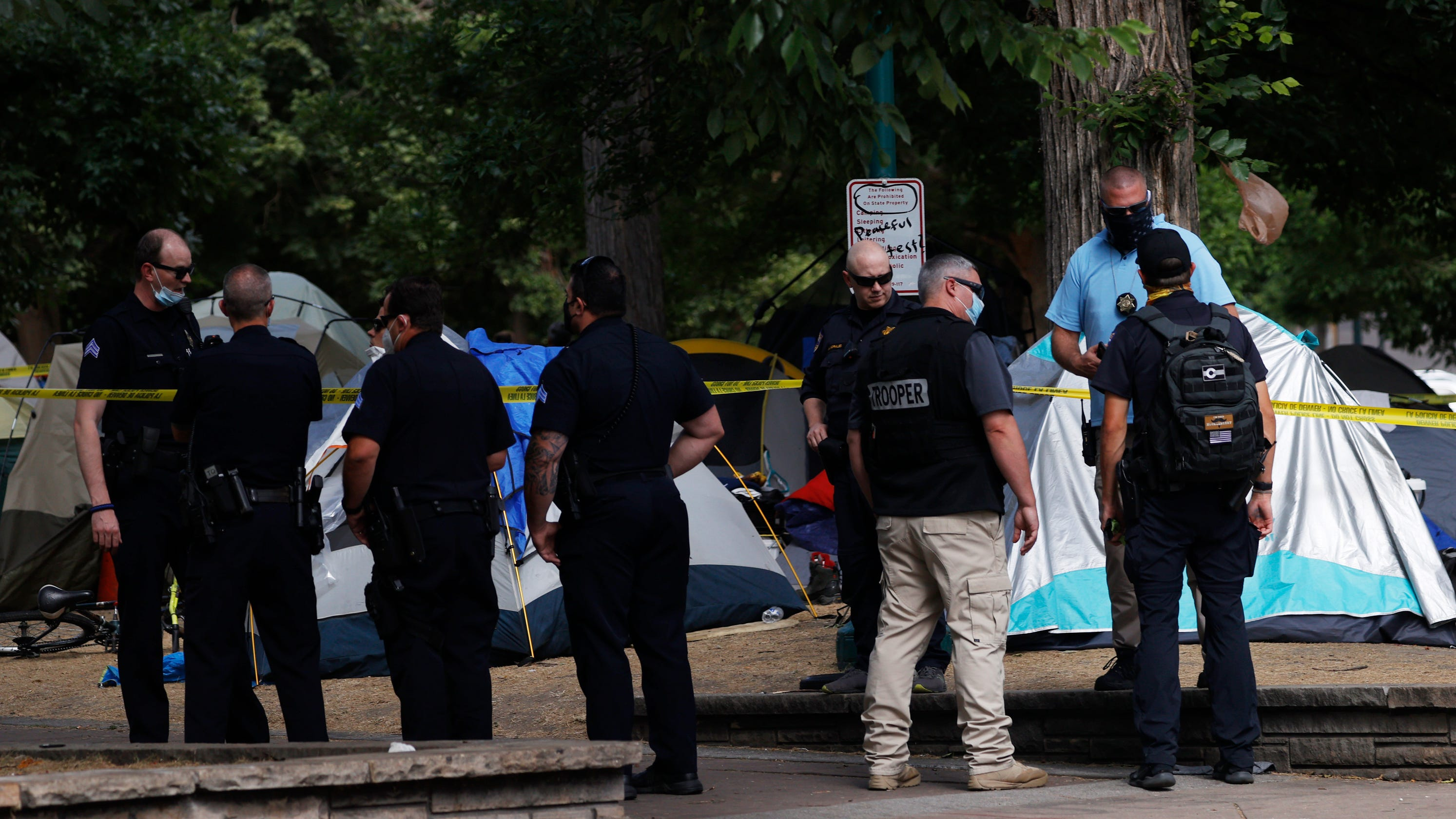 10 injured in Denver drive-by shooting while gathering at local park police say – USA TODAY