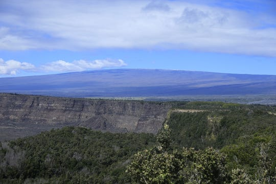 When measured from the ocean floor, Volcanoes National Park's Mauna Loa stands 31,000 feet, which is taller than Mount Everest.