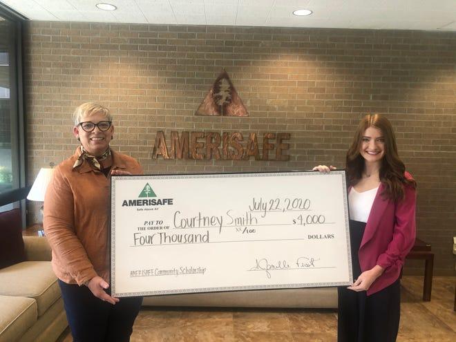Courtney Smith, graduate of DeRidder High School, was chosen for the AMERISAFE Community Scholarship.
