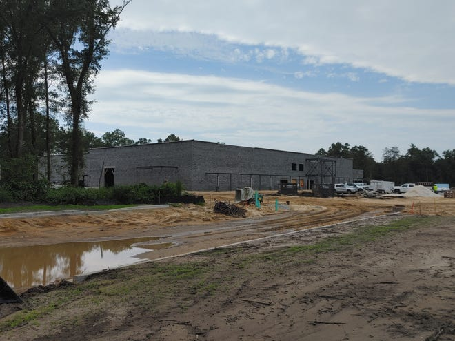 The new Publix store in Bluffton's New Riverside area is under construction and scheduled to open early next year.