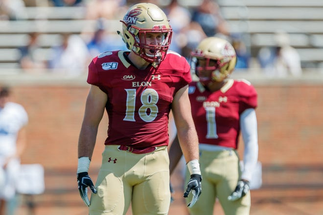 McAllister Ingram and Elon take on The Citadel in non-conference football action at Rhodes Stadium on Saturday, September 07, 2019 in Elon, North Carolina.