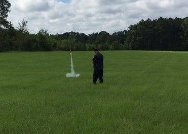 Rocket Launch, Major Plummer.