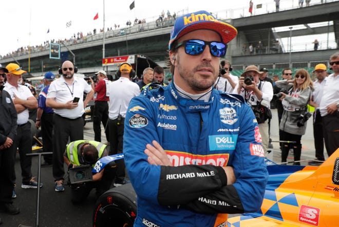 Fernando Alonso, of Spain, prepares to drive during the May 2019 qualifications for the Indianapolis 500 IndyCar auto race at Indianapolis Motor Speedway in Indianapolis. Alonso feels far better about his chances to close out motorsports' version of the Triple Crown in 2020. The Spaniard will race for Arrow McLaren SP in the Indianapolis 500 in May and believes the organization is prepared.
