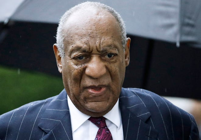 "FILE - In this Sept. 25, 2018, file photo, Bill Cosby arrives for a sentencing hearing in September 2018 following his sexual assault conviction at the Montgomery County Courthouse in Norristown Pa. Lawyers for Bill Cosby argue in an appeal filing Tuesday that it was ""fundamentally unfair"" for the trial judge to allow Cosby's damaging deposition from a sex accuser's lawsuit to be used against him at his criminal trial because he believes he had a binding promise from a prosecutor that he could never be charged in the case."