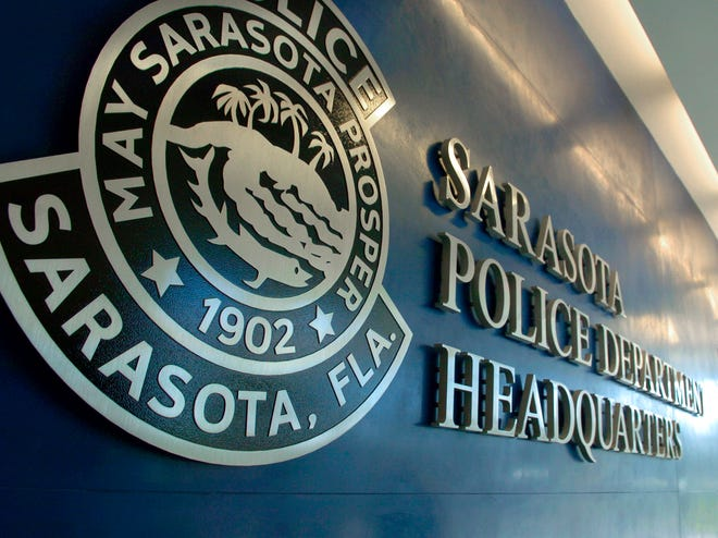 The lobby of the Sarasota Police Department headquarters.