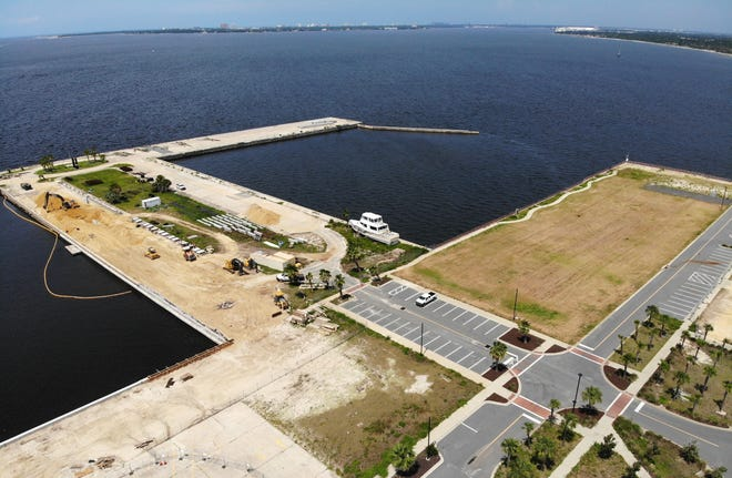 Construction is underway on Tuesday at the Panama City Marina. The city plans to vote at its next meeting on a land lease agreement with the St. Joe Company for the development of a hotel and restaurant at the marina. [PATTI BLAKE/ THE NEWS HERALD]