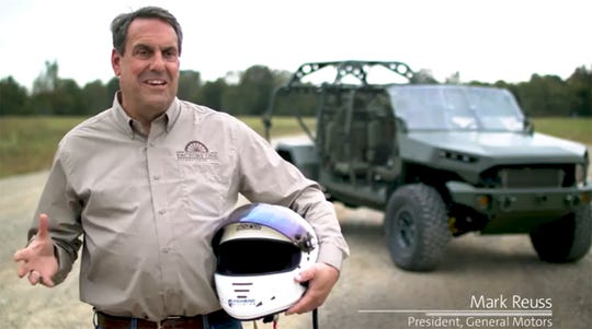In September 2019, GM President Mark Reuss test drove GM Defense's Infantry Squad Vehicle at GM Proving Ground in Milford before GM Defense submitted the vehicle to the U.S. Army for evaluation.