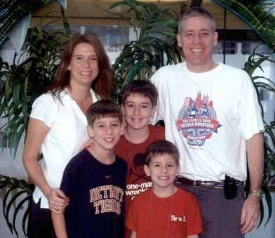 Battle Creek's Laurel and Tom Henkel purchased MET prepaid tuition contracts while the boys (from left, Grant, Logan and Cole) were still in elementary school.