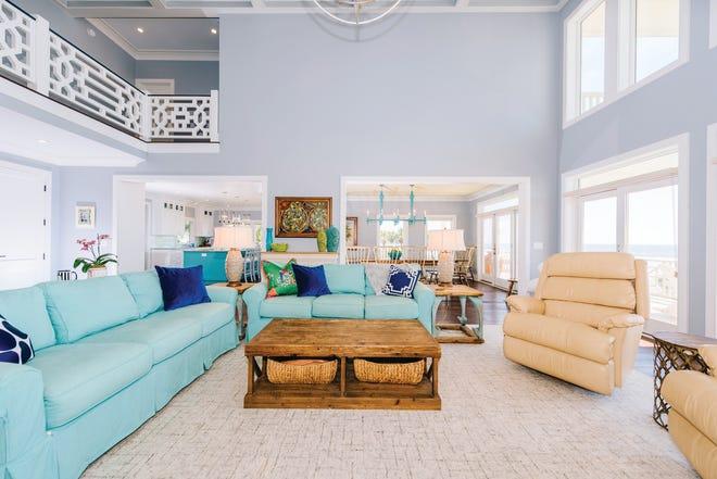 Keeping it bright and light in this Coastal home Living Room.