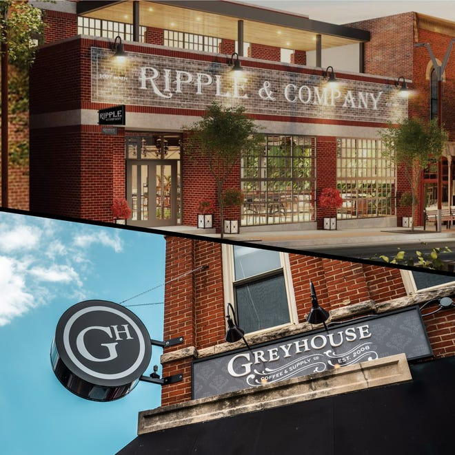 The developers of Ripple & Company, an offshoot of East End Grill expected to open at 1007 Main St. in October, and Greyhouse Coffee & Supply Co., a West Lafayette coffeehouse, will team up in the downtown Lafayette location, according to an announcement this week.