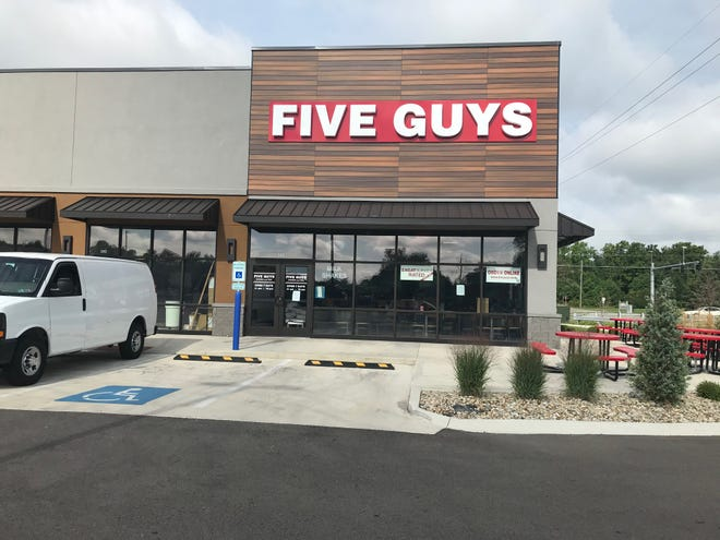 Richard Beil, CFO of Wholesome Enterprises, a franchisee of Five Guys Burgers & Fries, said the restaurant at 994 N. Lexington-Springmill Road will open Aug. 17. Lou Whitmire/News Journal