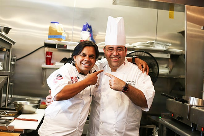 Chef Asif Syed, left, and Chef Rachid Eido.