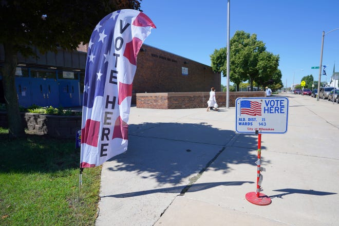 The polling location at North Division High School on West Center Street in Milwaukee on Tuesday.