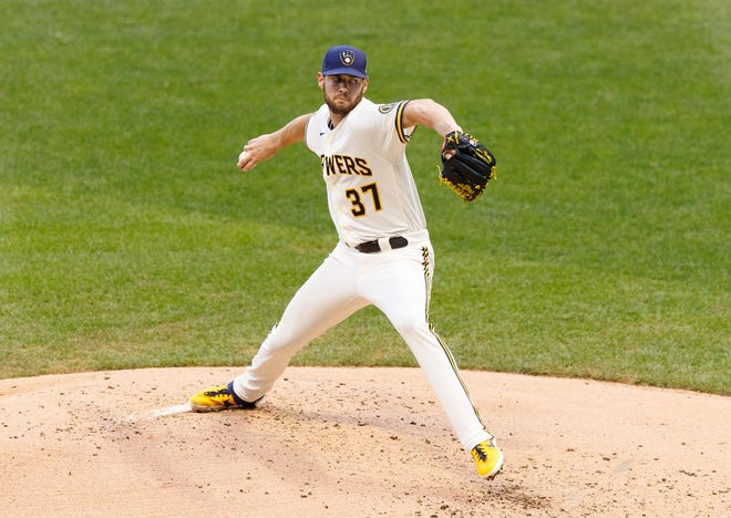 Adrian Houser is 0-2 with a 7.13 ERA in four starts in September and 1-5 with a 5.33 ERA overall.