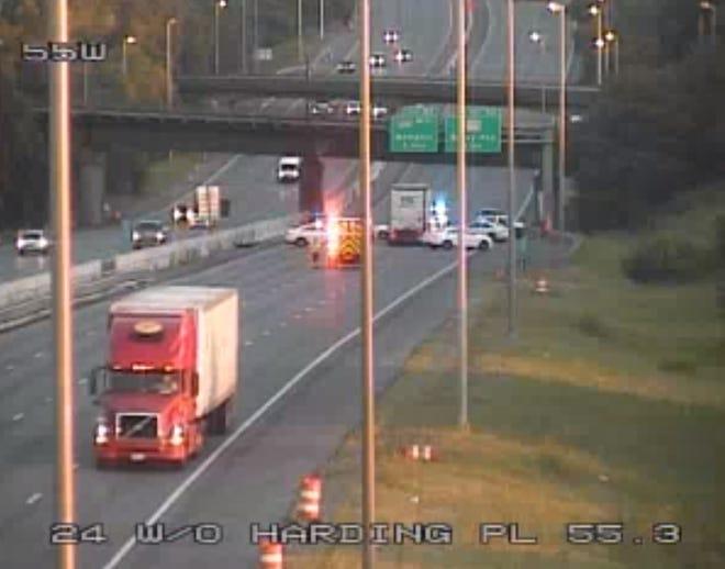 Fatal crash shuts down I-24 W near Harding Place.