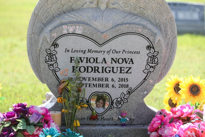 The grave of Faviola Rodriguez is shown at Masonic Cemetery in Las Cruces on Tuesday, August 11, 2020.