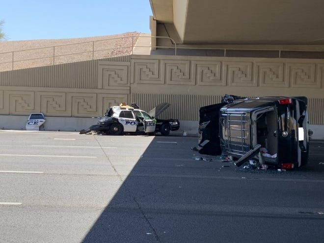 A Mesa police officerand a womanwere injured in a multivehiclecrashon east U.S. 60 on Aug. 11, 2020.