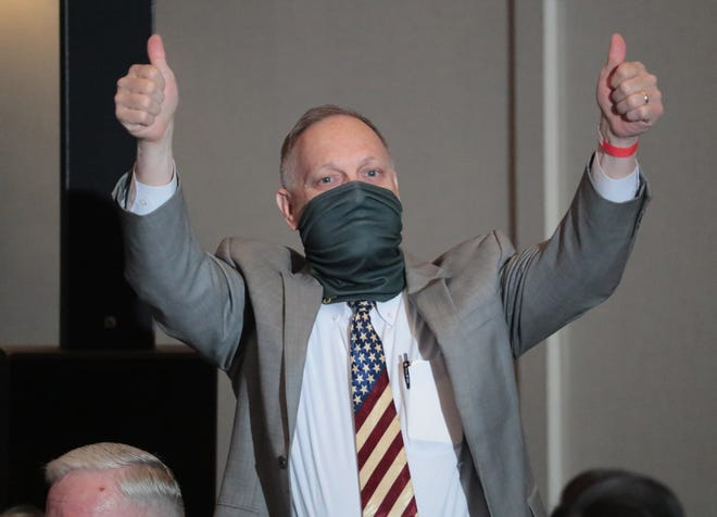 Rep. Andy Biggs at a campaign event in Mesa in August.