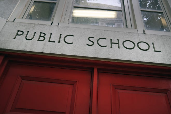 A public school stands on the Upper East Side on Aug. 7, 2020, in the Manhattan borough of New York City. More than 700,000 students are slated to attend school part-time this fall under the city's hybrid learning plan to reduce crowding in school buildings. (Spencer Platt/Getty Images/TNS)
