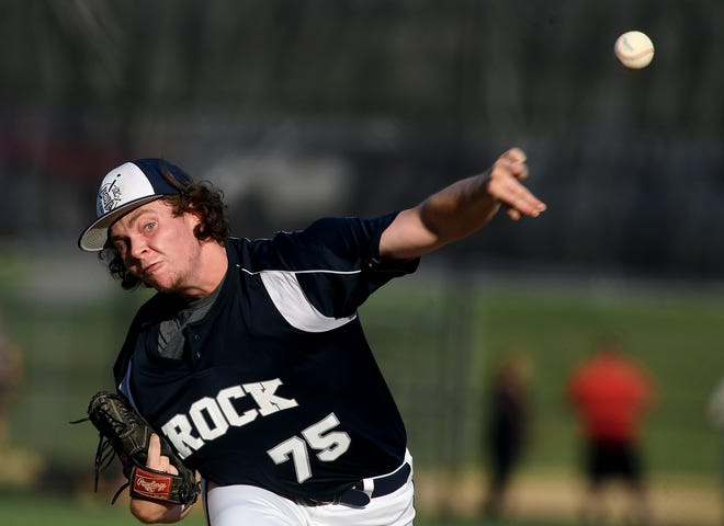 Pitcher James Wiercinski delivers for Glen Rock as they host Jefferson, Monday, August 10, 2020. John A. Pavoncello photo