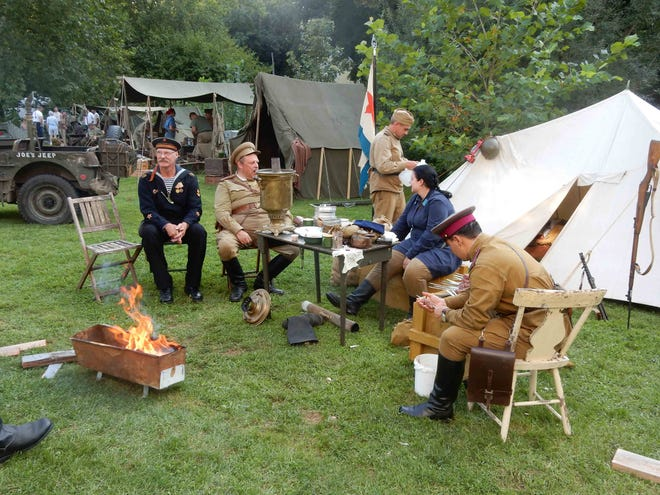 The AM & Pa Railroad Heritage Village at Muddy Creek Forks will host a World War II encampment Aug. 22-23.