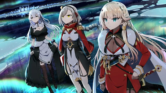 Hermione, Eagle and Howe from Azur Lane's Aurora Noctis event.