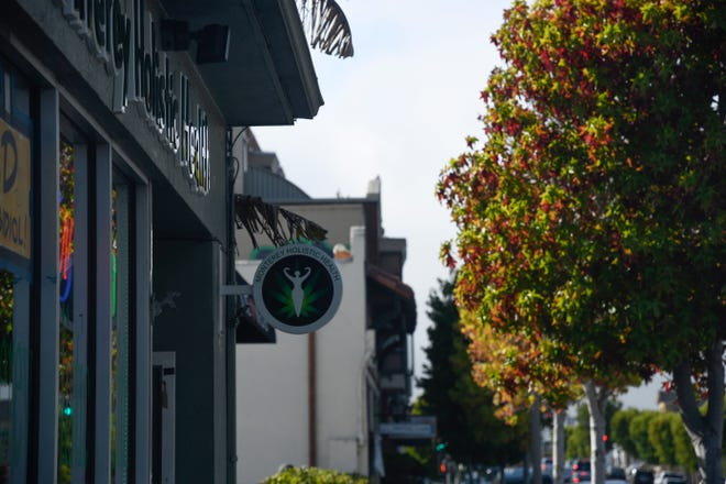 Monterey Holistic Health, near the Cannery Row area in Monterey, provides CBD options for people and pets alike. Aug. 7, 2020.