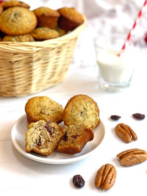 Banana Craisin Mini Muffins are perfect for when you have an overripe banana.