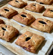 Blueberry, peach and cherry hand pies, $3 each, can be purchased through Wild Flour Bakery's website and delivered free to homes and businesses in New Castle County on Wednesdays.